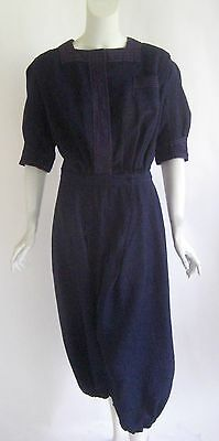 Rare 1920s blue wool serge romper antique bathing suit costume beach pajamas