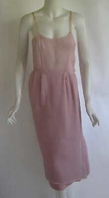 SALE vintage 1960s CHRISTIAN DIOR pale pink silk organza cocktail dress