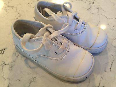 Keds Toddler Girls White Leather Sneakers Shoe Size 8