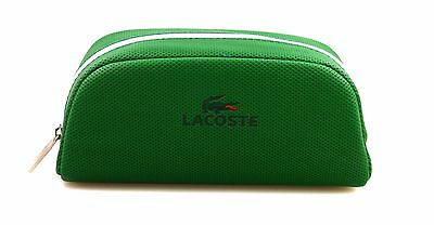 Lacoste Sunglasses Case Cover Protect Zip Green New A621-11