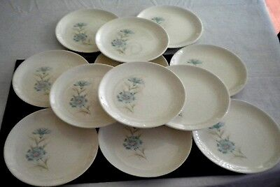 """12 Taylor Smith Taylor Ever Yours Boutonniere Bread Plates 6 3/4"""""""
