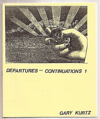 DEPARTURES --- CONTINUATIONS 1 by Gary Kurtz 1988 - Signed