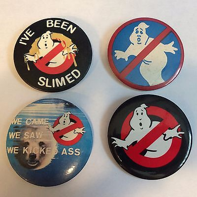 Vintage Ghostbusters Pin Back Button lot I've Been Slimed We Came We Saw