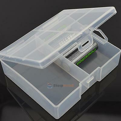 Transparent Battery Holder Storage Case Box Container for 24 x AA Batteries Bag