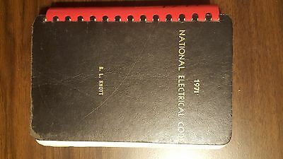 Vintage 1971 National Electrical Code Book