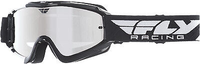 Fly Racing Black/White Adult Zone Dirt Bike Goggle MX ATV 2017