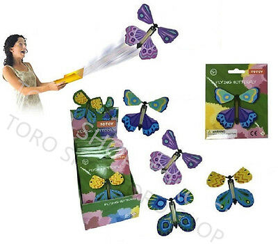 Magic Butterfly Flying Fluttering Prank Toy Birthday Funny Gift Party Card