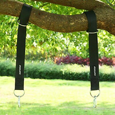 Startostar Tree Swing Hanging Straps with Carry Pouch & Safety Lock Carabiner