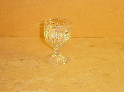 Eapg Crystal Flint Inverted Fern Egg Cup Maker Unknown Circa 1860's