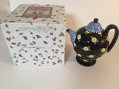 Mary Engelbreit  Royal Cottage Rose Teapot with Original Box-Retired