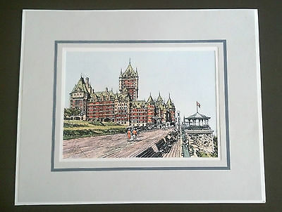 Original Pen and Ink Drawing of Old Quebec by Alain Couture Le Château Frontenac
