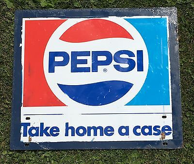 Vintage Pepsi Take Home A Case Sign