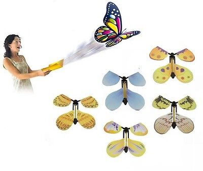New Prank Magic Butterfly Flying Fluttering Toys Birthday Funny Gift Party Card