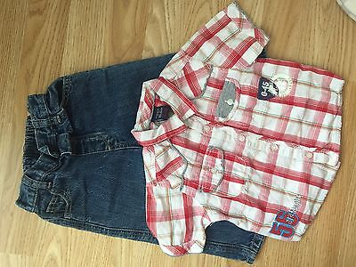 Next 12-18 Month Boy Shirt And Jeans Outfit Trendy