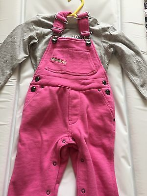 Baby Girl Diesel Dungarees And Top 9 Months BNWT