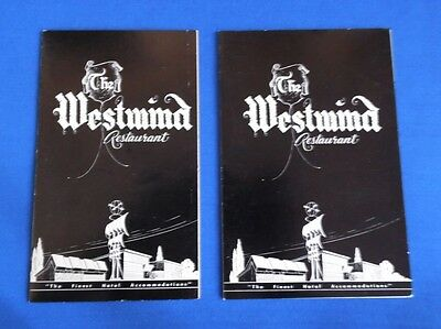 Old Menus The Westwind Restaurant Downey California Finest Hotel Accommodations