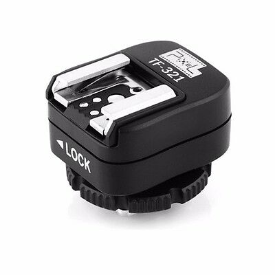 Pixel e-TTL Flash Hot Shoe Adapter with Extra PC Sync Port for Canon DSLRs TF321