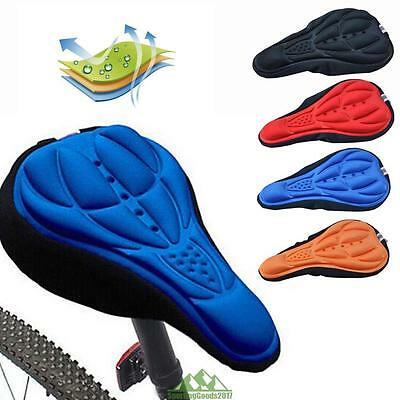 Outdoor Cycling Bike Bicycle 3D Silicone Saddle Seat Cover Gel Cushion Soft Pad