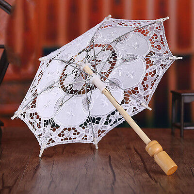Handmade Cotton Parasol Lace Umbrella Party Wedding Bridal Decoration Vintage