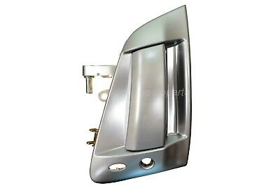 Exterior Outer Outside Door Handle Satin Chrome Silver Driver Side Front
