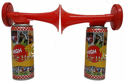 2x Air Horn (Gas) Hand Held Football Sport Event Team Supported Loud