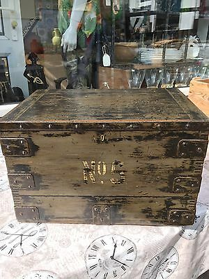 Wood Campaign Style Box - Exceptional Quality & Patina - Great Decorators Piece!