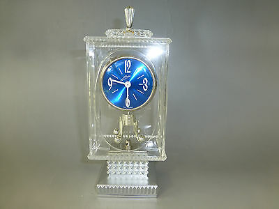 Vintage Lucite Anniversary Carriage Pendulum Shelf/Mantle German Clock Serviced