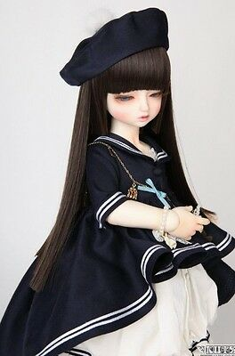 NEW BJD Wig Luts DW-245 Soft Black Size 9-10 Long Ball Jointed Doll Hair