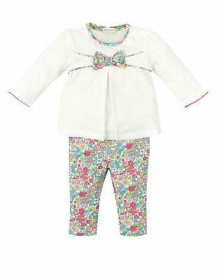 Monsoon Baby Girls Outfit Leggings & Top Jersey Set Size 12-18 months
