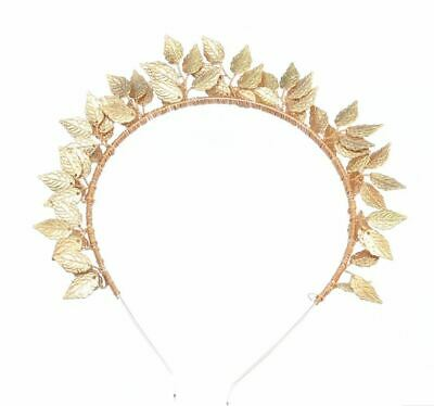 Fascinator Metal Leaf Headband - Gold