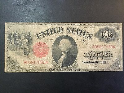 1917 United States Large Note - One Dollar Banknote !