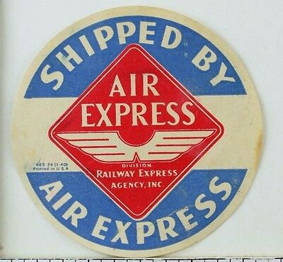 Air Express Railway Express Agency Inc. Vintage Poster Stamp Nice! F94
