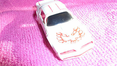 Tyco Ho Scale Slot Car Used Motored White Trans Am Firebird Lighted Body