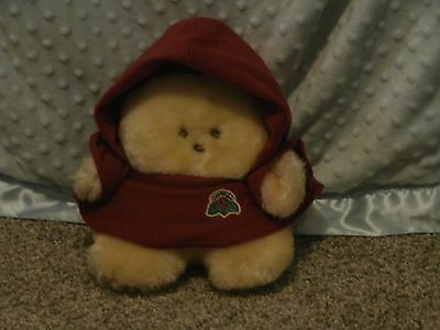 "Vtg. Animal Fair Inc. 8"" Plush Chubbles In Maroon Cloak, Works!"