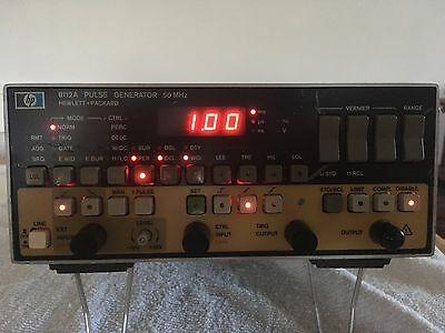 HP  8112A  50 MHz PULSE GENERATOR Powers on, not fully tested.