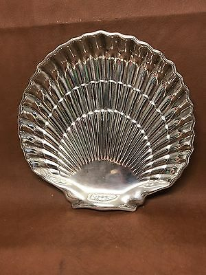 Gorham Footed Sterling Silver Shell Scalloped Dish Platter Tray - 40617