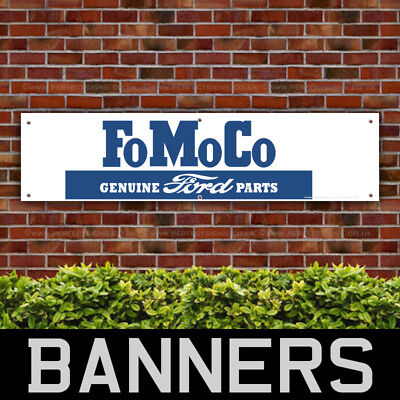 FoMoCo Genuine Ford Parts PVC Banner Garage Workshop Car Sign (BANPN00112)