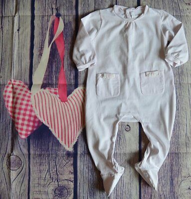 Burberry Baby Girls Designer Clothes Romany Pale pink Suit 6-9 Months VGC