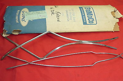 NOS Ford Accessory Falcon 4 Door Edge Guard Moulding Kit 1966 Original