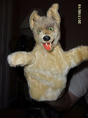 Vintage Steiff Loopy Wolf Hand Puppet Mohair  (No Tag) Vgc 1959-1964