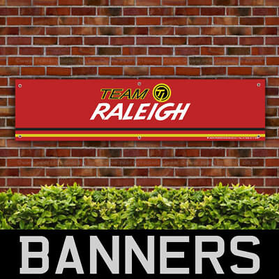 Team Raleigh Bicycles PVC Banner Garage Workshop Bike Retro Sign (BANPN00170)