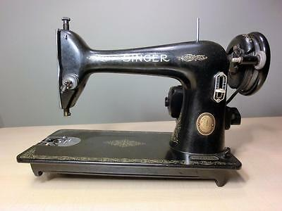 Singer 66 Sewing Machine Electric Motor Nonworking for Parts or Restoration 1949