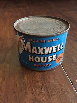 OLD MAXWELL HOUSE COFFEE TIN,  4 OUNCE size, SEALED, EMPTY TIN