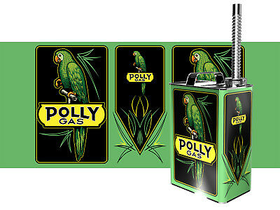 Custom Polly Gasoline Gas can with Spout Vintage Tribute