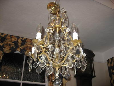 Large 5 Branch French Vintage Bird Cage Chandelier  Rewired Superb Quality /3829