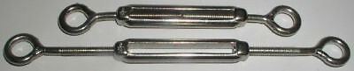 """2 Brand New 3/16"""" Stainless Steel Turnbuckles"""