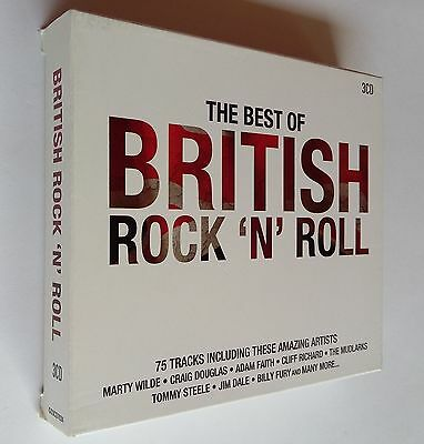 The Best of British Rock 'N' Roll by Various Artists 75 Tracks (3-Disc, CD) NEW
