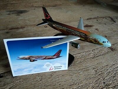 "collector's item Brussels Airlines Airbus Tomorrowland ""Amare"" + postcard 1:200"