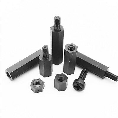 Plastic Nylon M2 M3M4 Hex Standoff Spacer Pillar Phillips Screw Bolt Nut For PCB