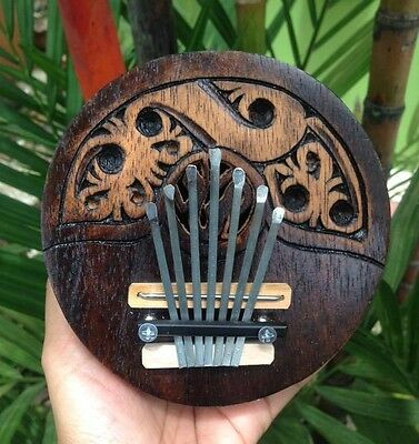 Karimba Hand Mbira Coconut Shell 7 Key Kalimba Music African Piano Thumb Tunable